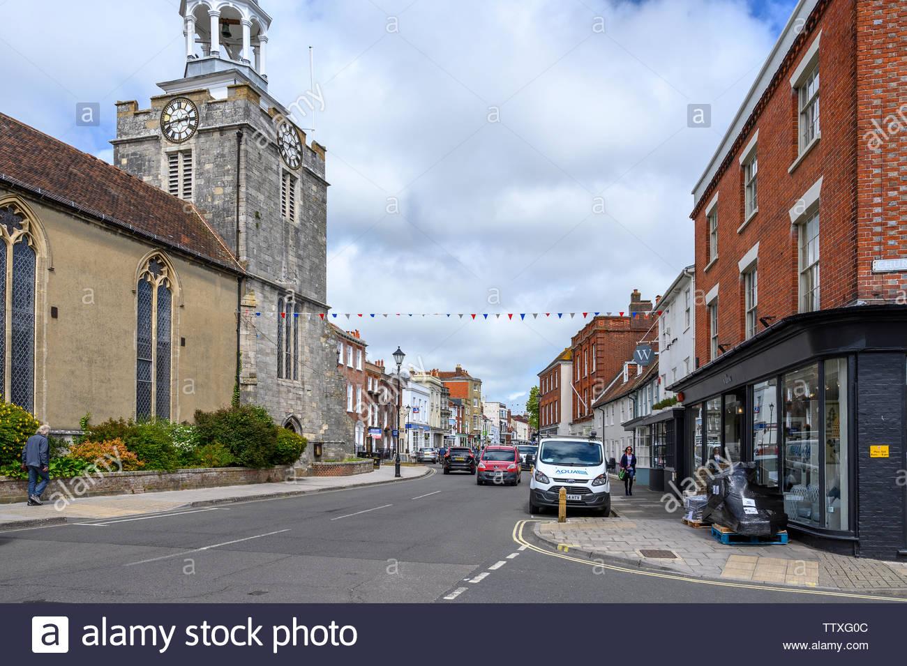 Lymington, Hampshire, England, UK - Stock Image