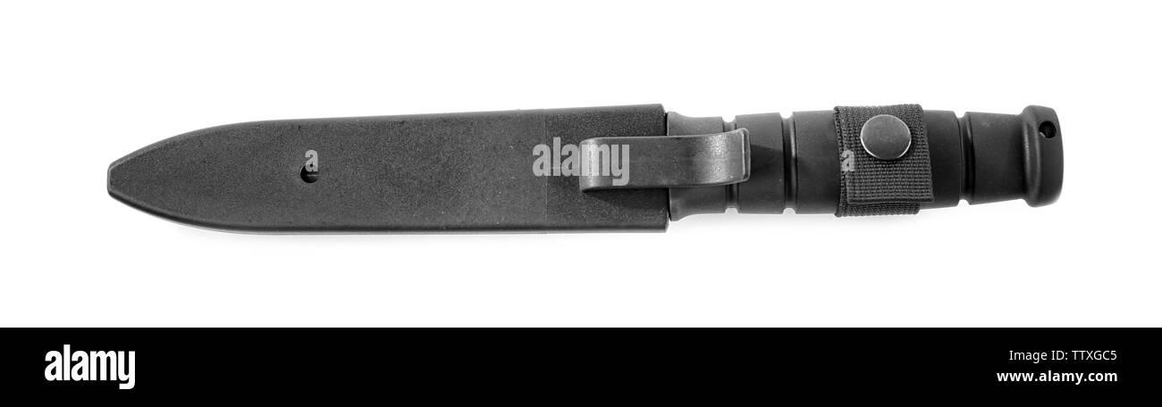 Marine  knife on white background - Stock Image