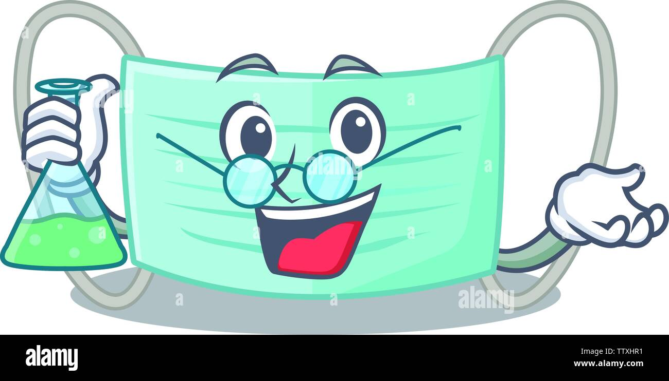 Professor surgical mask in the charcater shape - Stock Image