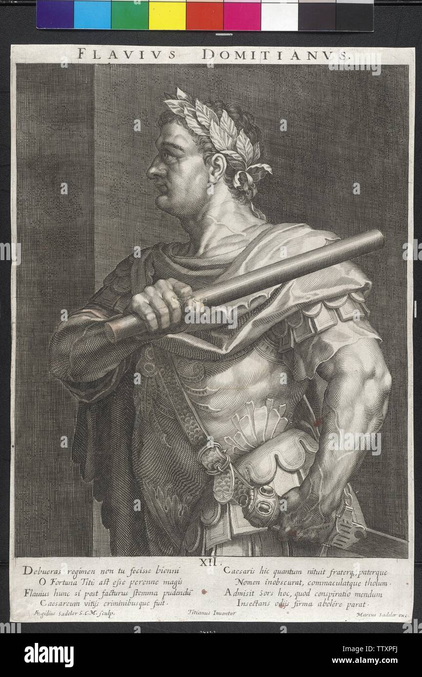 Domitian, Roman emperor, Additional-Rights-Clearance-Info-Not-Available - Stock Image