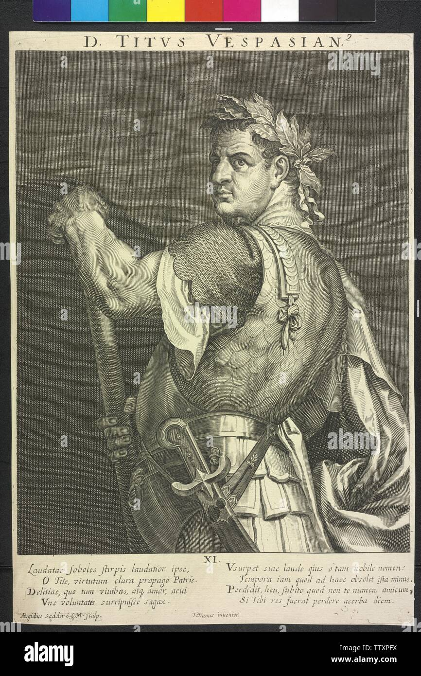 Titus, Roman emperor, Additional-Rights-Clearance-Info-Not-Available - Stock Image