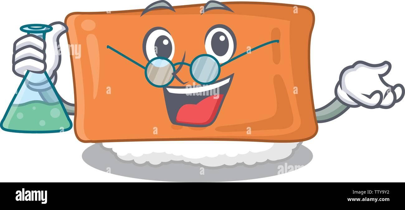 Professor inari sushi in the cartoon shape - Stock Image