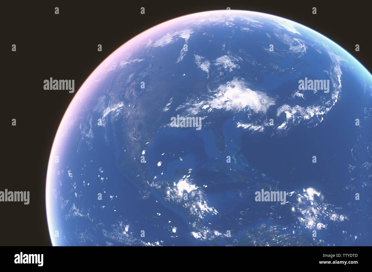 Earth NASA pictures - Stock Image