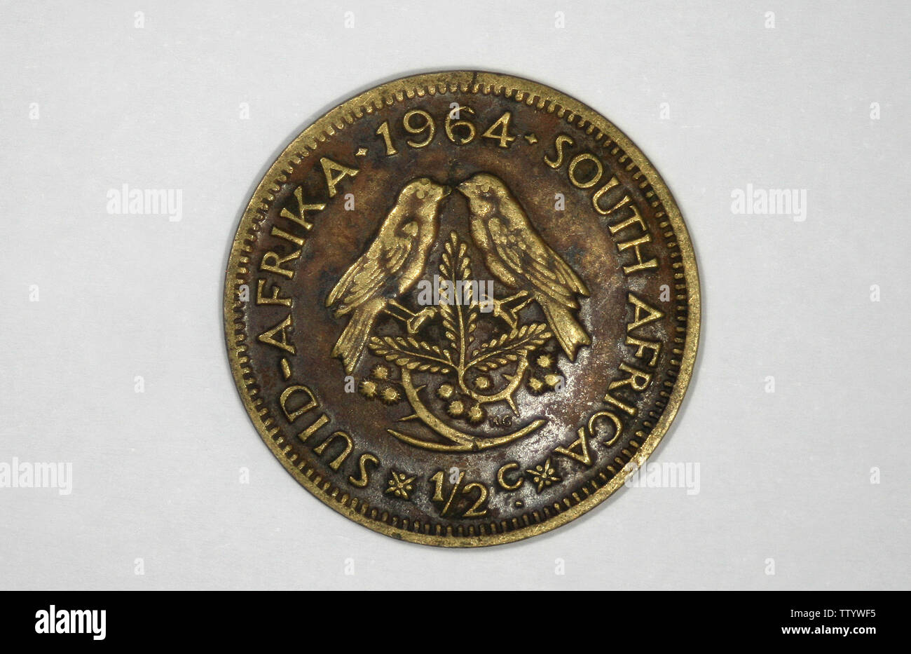 South Africa ½ cent, 1964 - Stock Image
