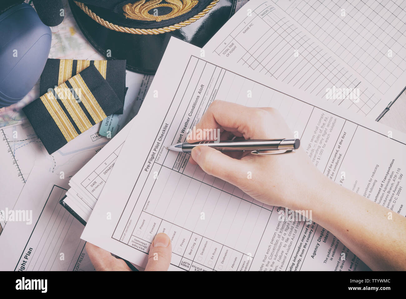 Checklist Airplane Stock Photos & Checklist Airplane Stock