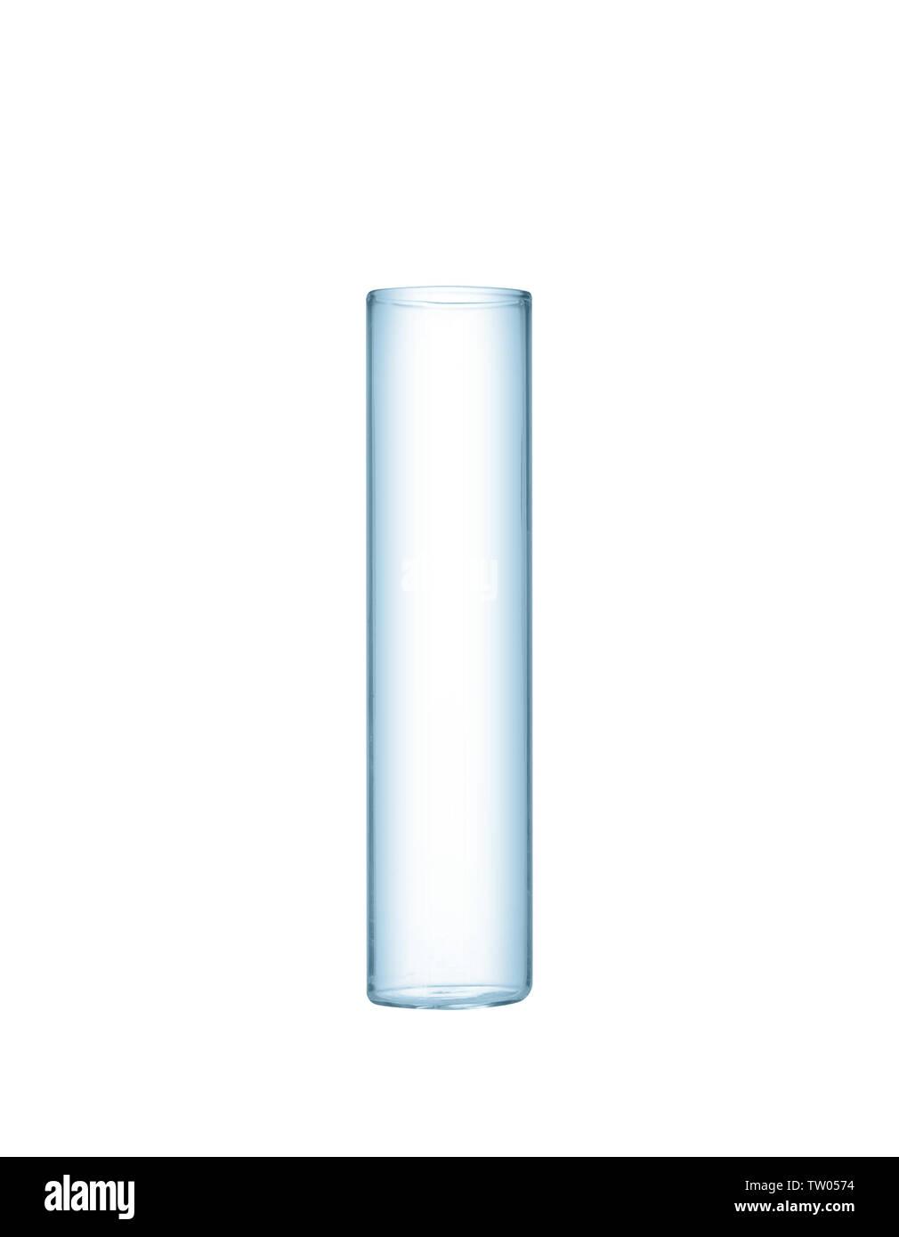 Test tube isolated on white - Stock Image