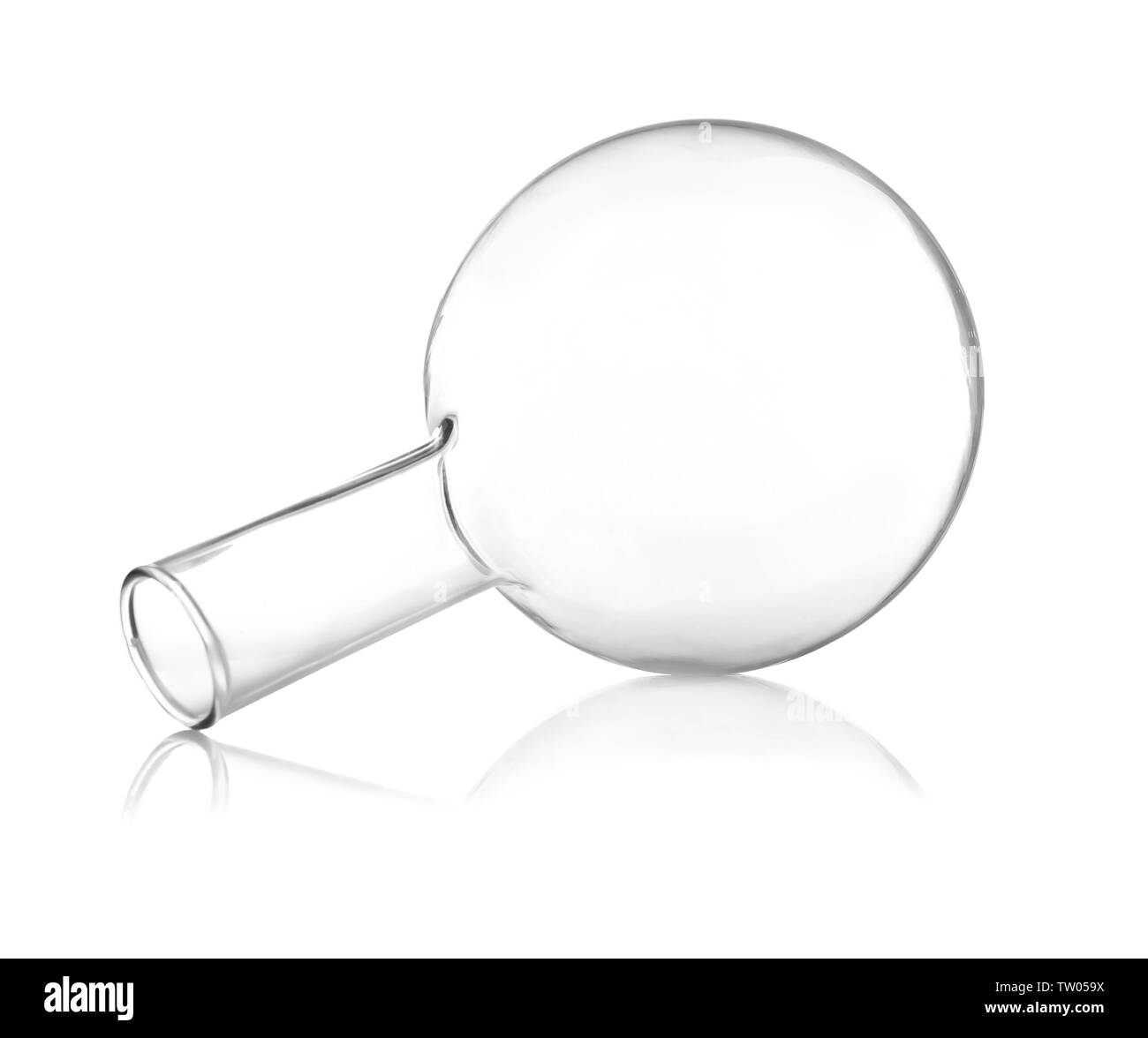 Test flask isolated on white - Stock Image
