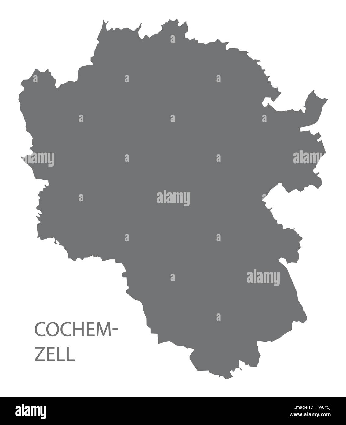 Map Of Zell Germany.Geography Travel Germany Rhineland Palatinate Zell Stock Photos