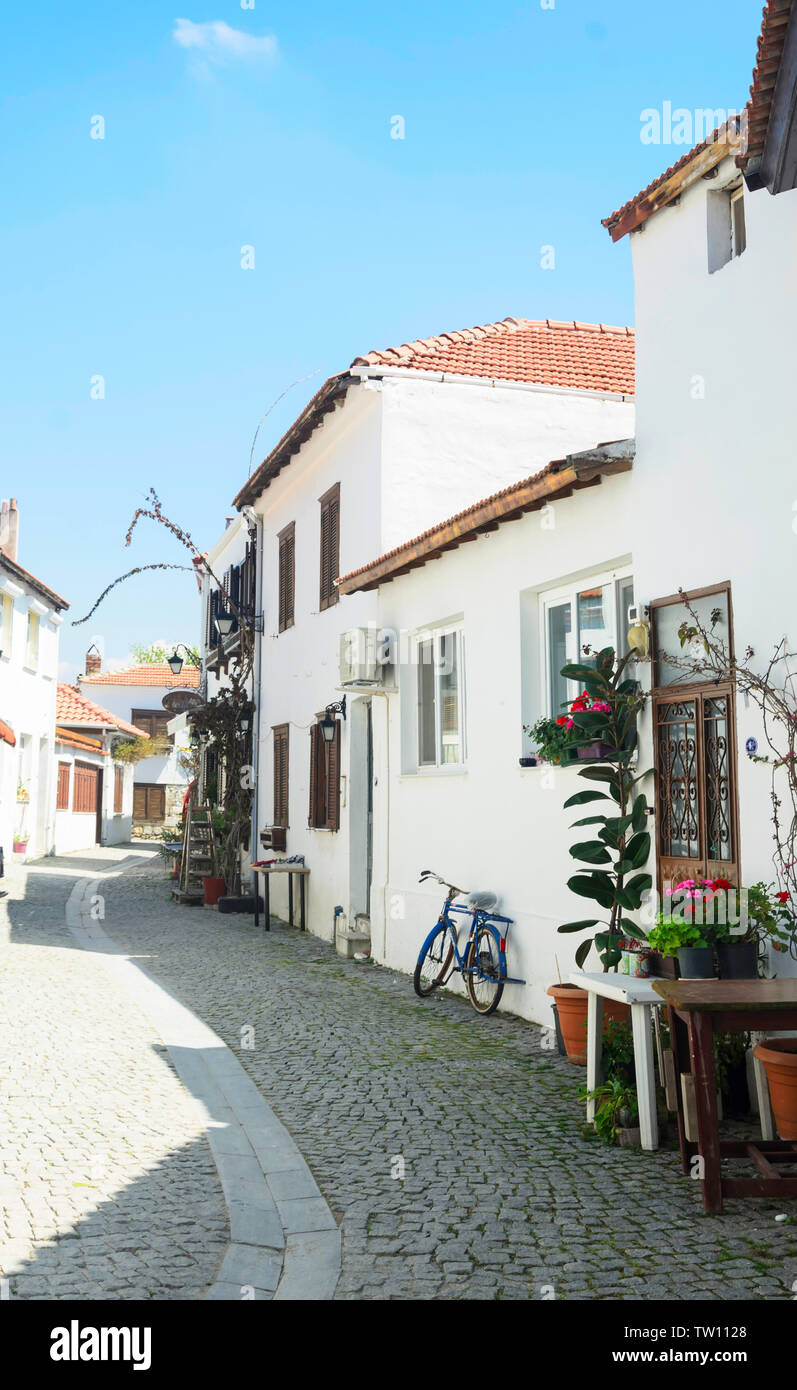 Sigacik Seferihisar Izmir Turkey Small Cozy Lovely Street In Sigacik One Of Best Location To Visit During Spring Summer Stock Photo Alamy