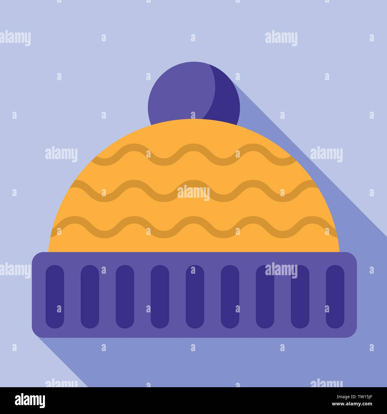 Winter hat icon. Flat illustration of winter hat vector icon for web design - Stock Vector