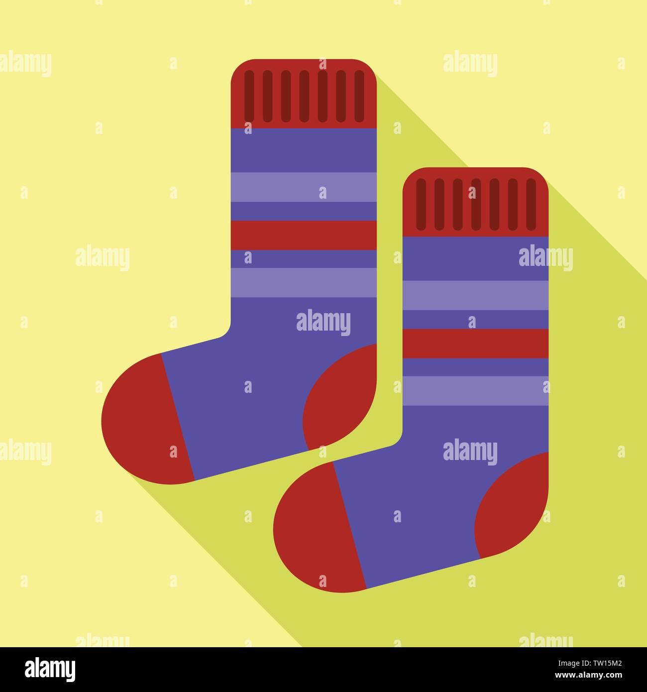 Winter socks icon. Flat illustration of winter socks vector icon for web design - Stock Vector