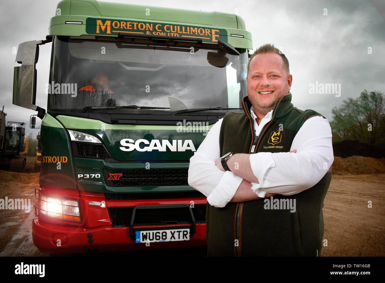 Moreton F. Cullimore, managing director of family business The Cullimore Group, best known for Moreton C. Cullimore & Sons Ltd aggregate and trucking. - Stock Image