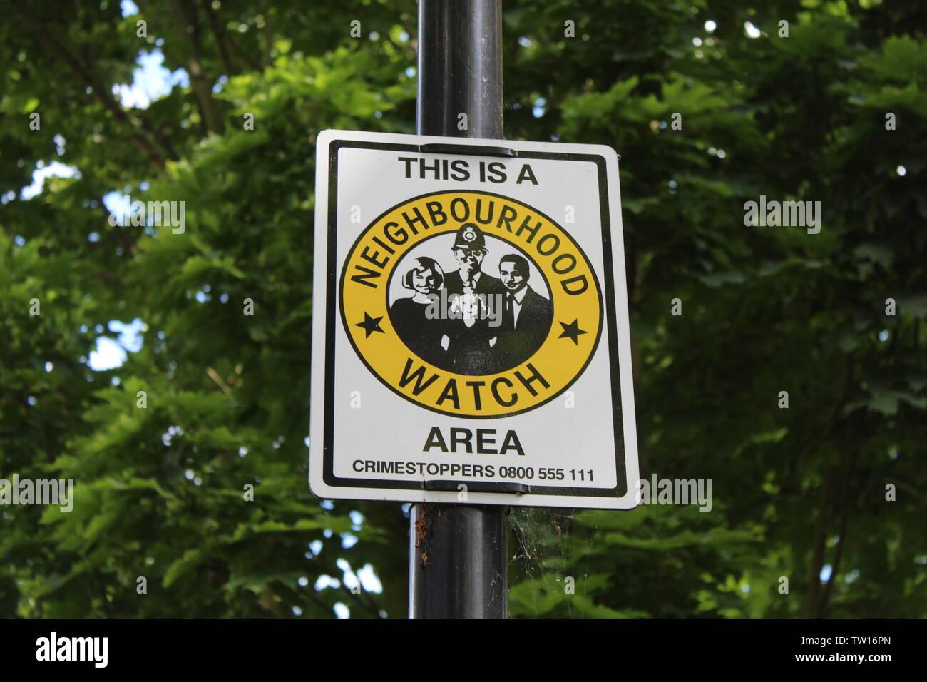Neighbourhood watch sign. - Stock Image