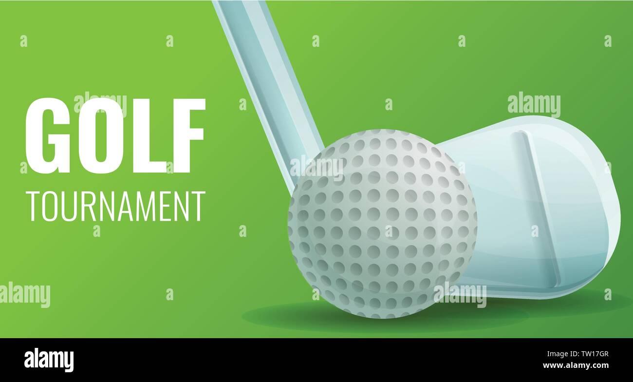 Golf Concept Banner Cartoon Illustration Of Golf Vector Concept Banner For Web Design Stock Vector Image Art Alamy