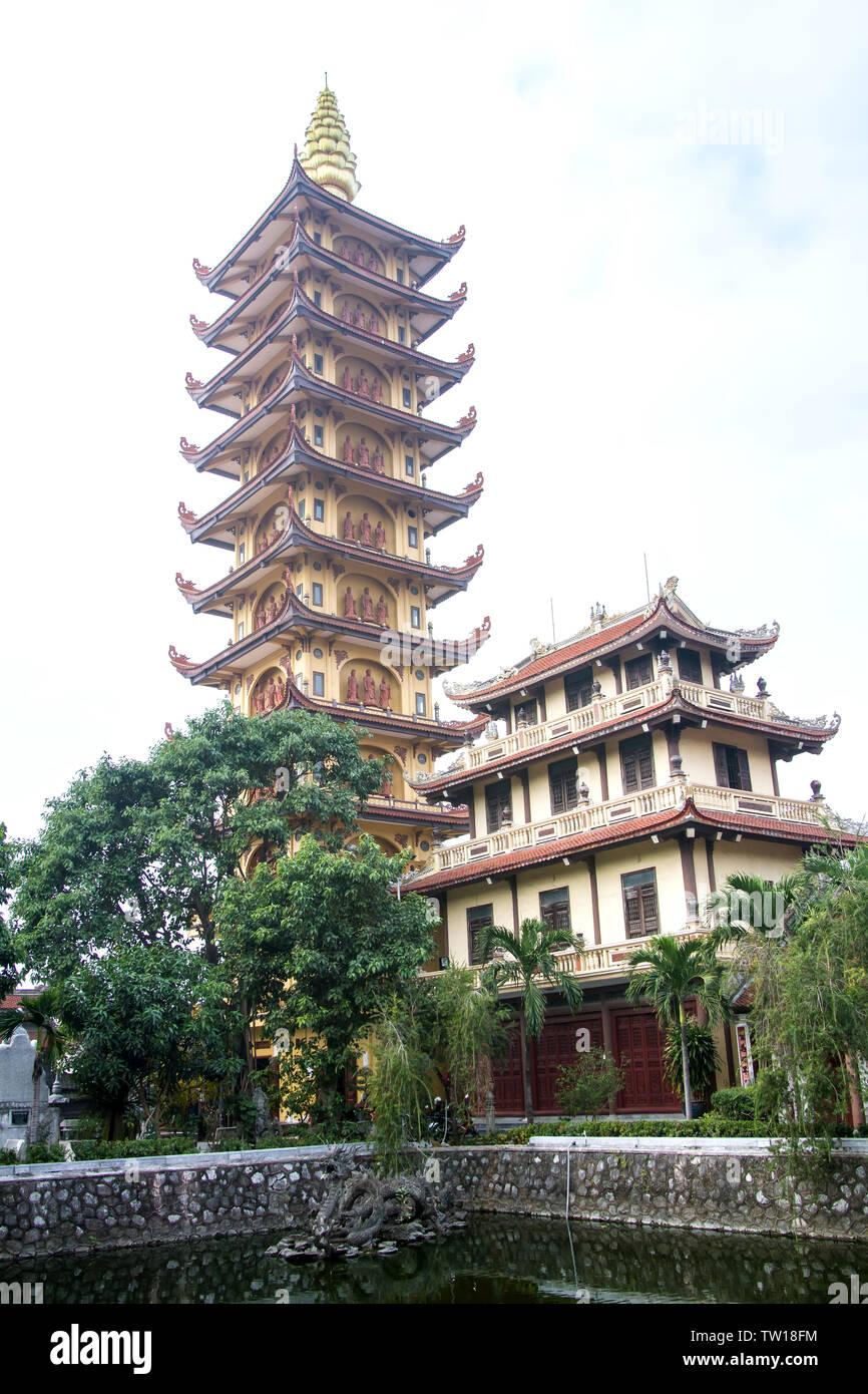Pho Chieu Pagoda in Hai Phong, Vietnam Stock Photo