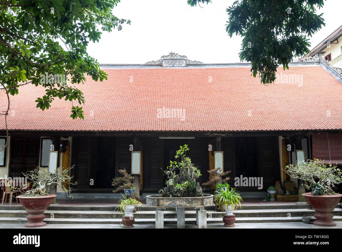 Pagoda of Pho Chieu Temple in Hai Phong, Vietnam Stock Photo