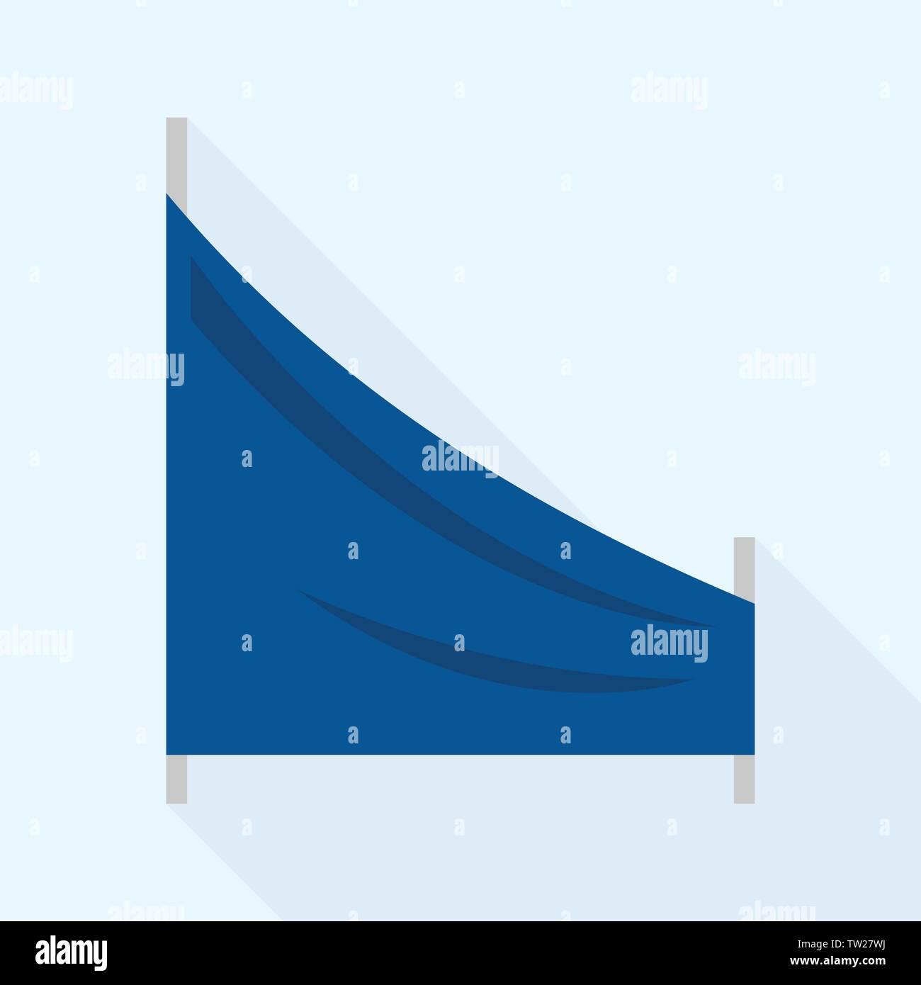 Track ski flag icon, flat style - Stock Vector
