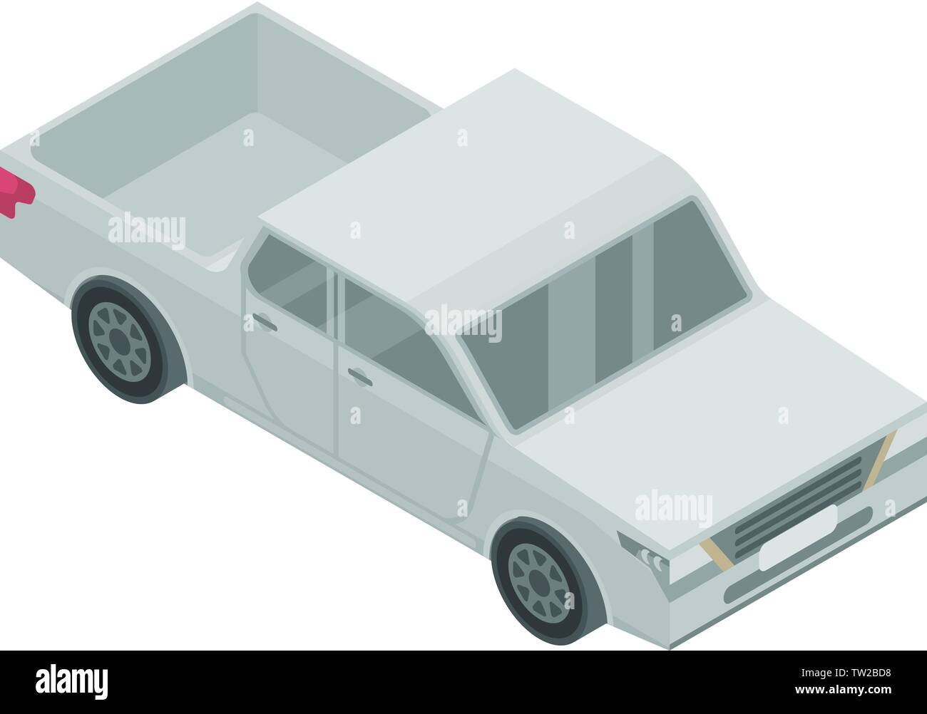 American pickup icon, isometric style - Stock Image