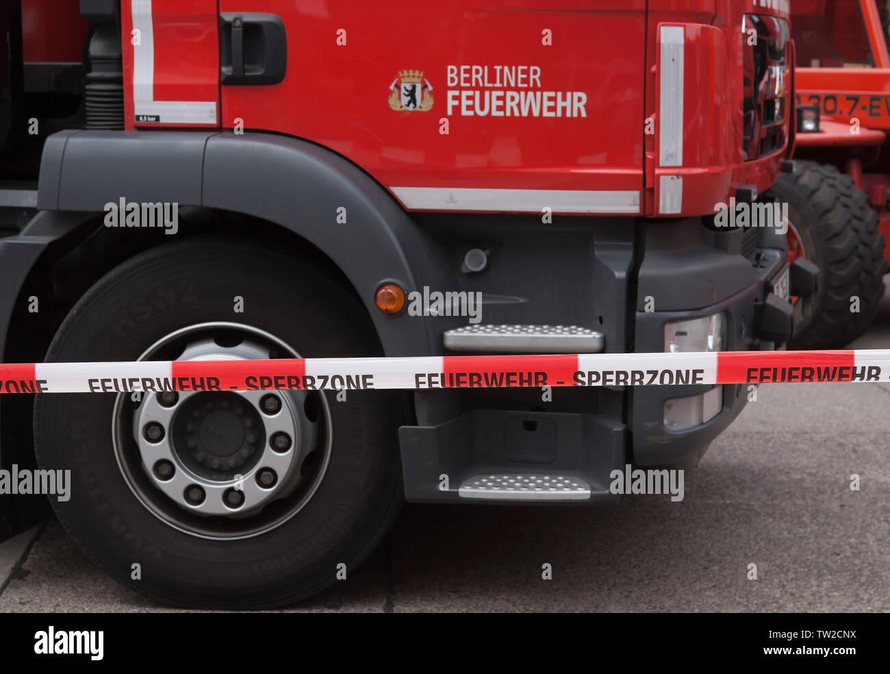 Fire department in Berlin - Stock Image