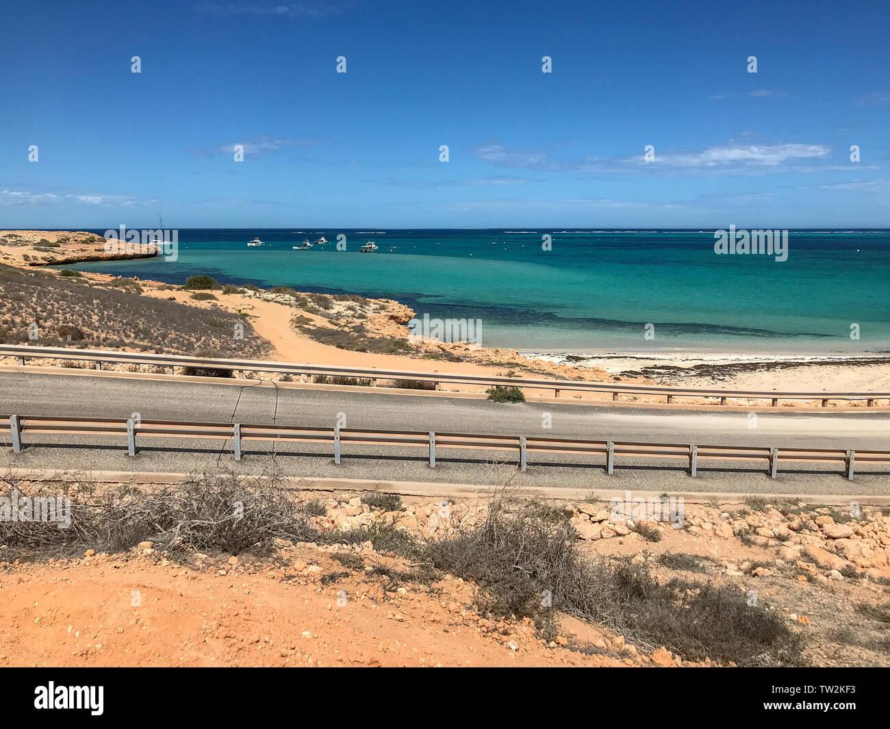 Coral Bay Walk Way Ningaloo Reef in Western Australia Stock Photo