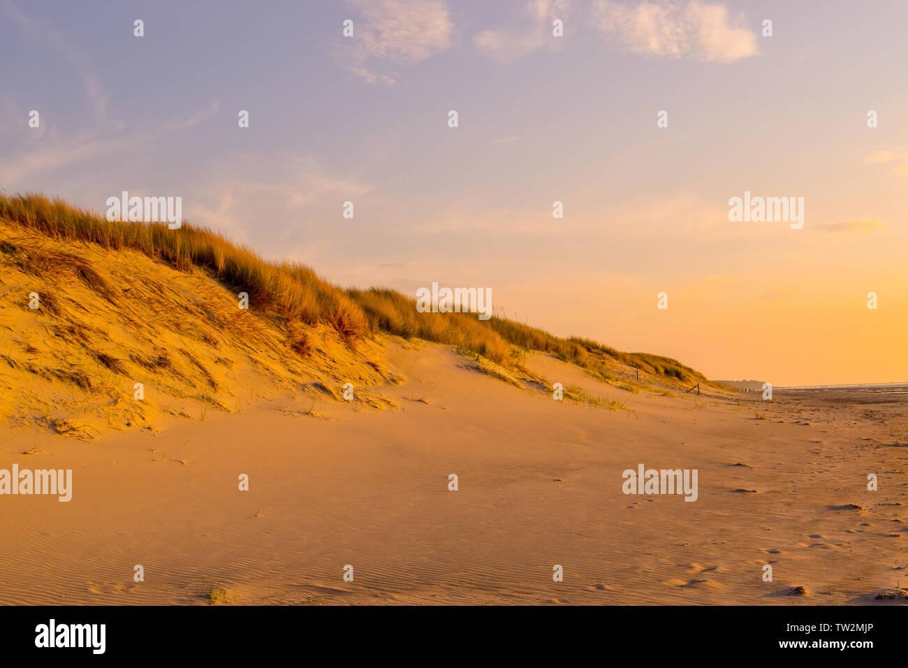 Sonnenuntergang an der Ostsee Stock Photo