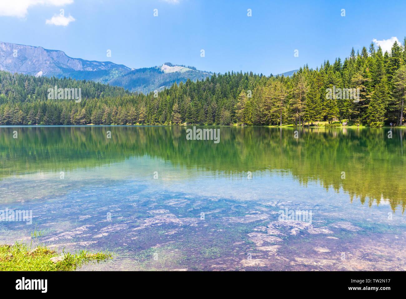 Montenegro, Durmitor National Park, the Black Lake Stock Photo
