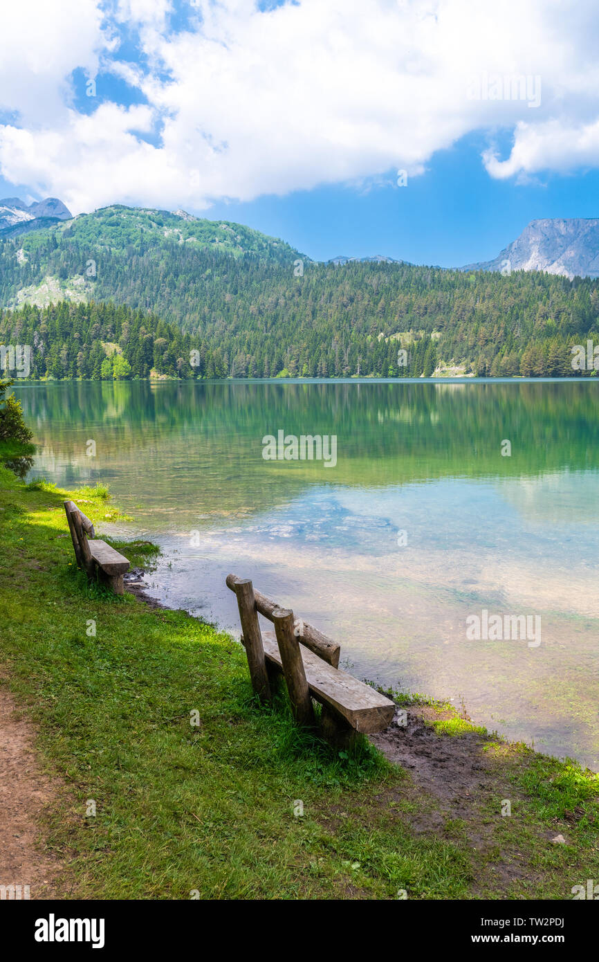 Montenegro, Durmitor National Park, the Black Lake - Stock Image