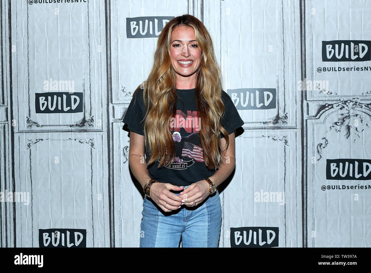 New York, USA. 18 June, 2019. Cat Deeley at the BUILD Brunch Show at BUILD Studio. Credit: Steve Mack/Alamy Live News - Stock Image