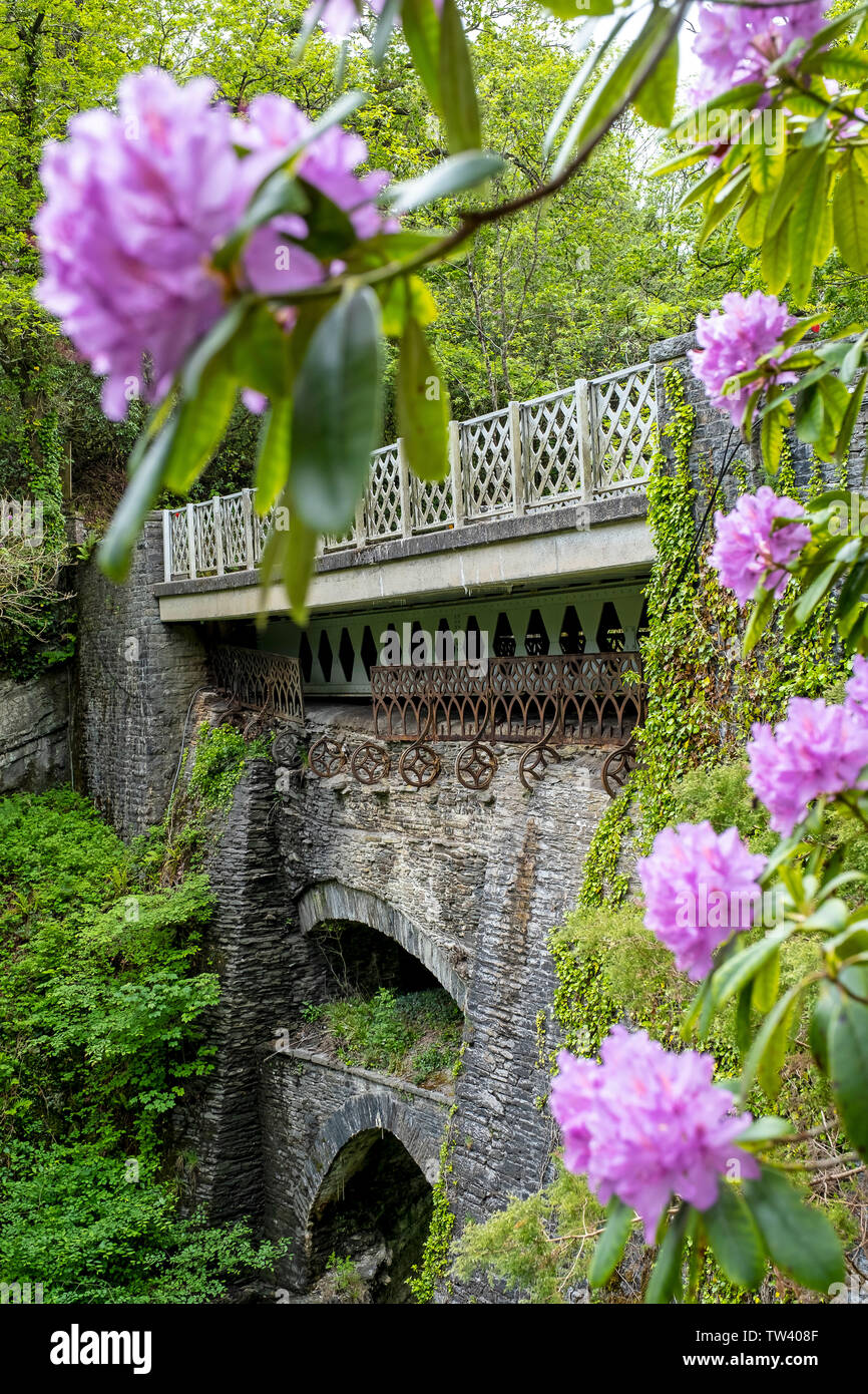 Devil's Bridge,, Pontarfynach, Wales - Stock Image
