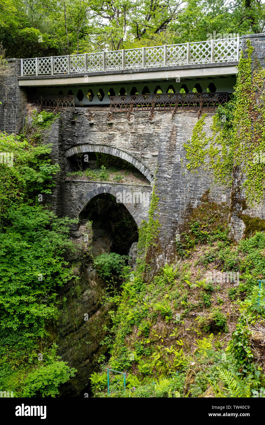 Devil's Bridge, Pontarfynach, Wales - Stock Image
