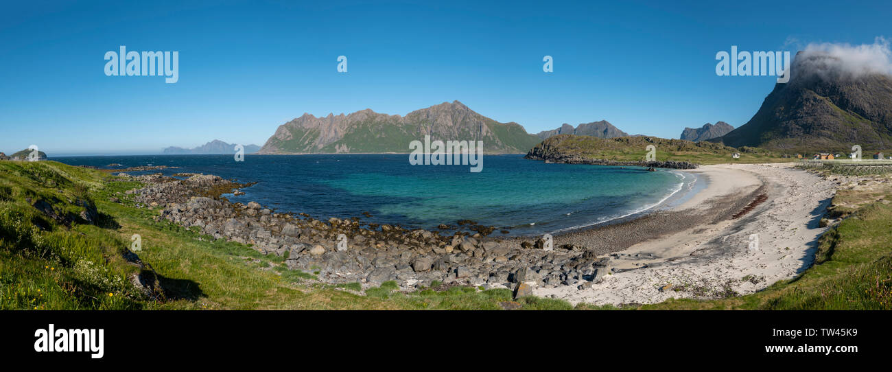 Vesterålen archipelago, Hovden Beach, Norway - Stock Image