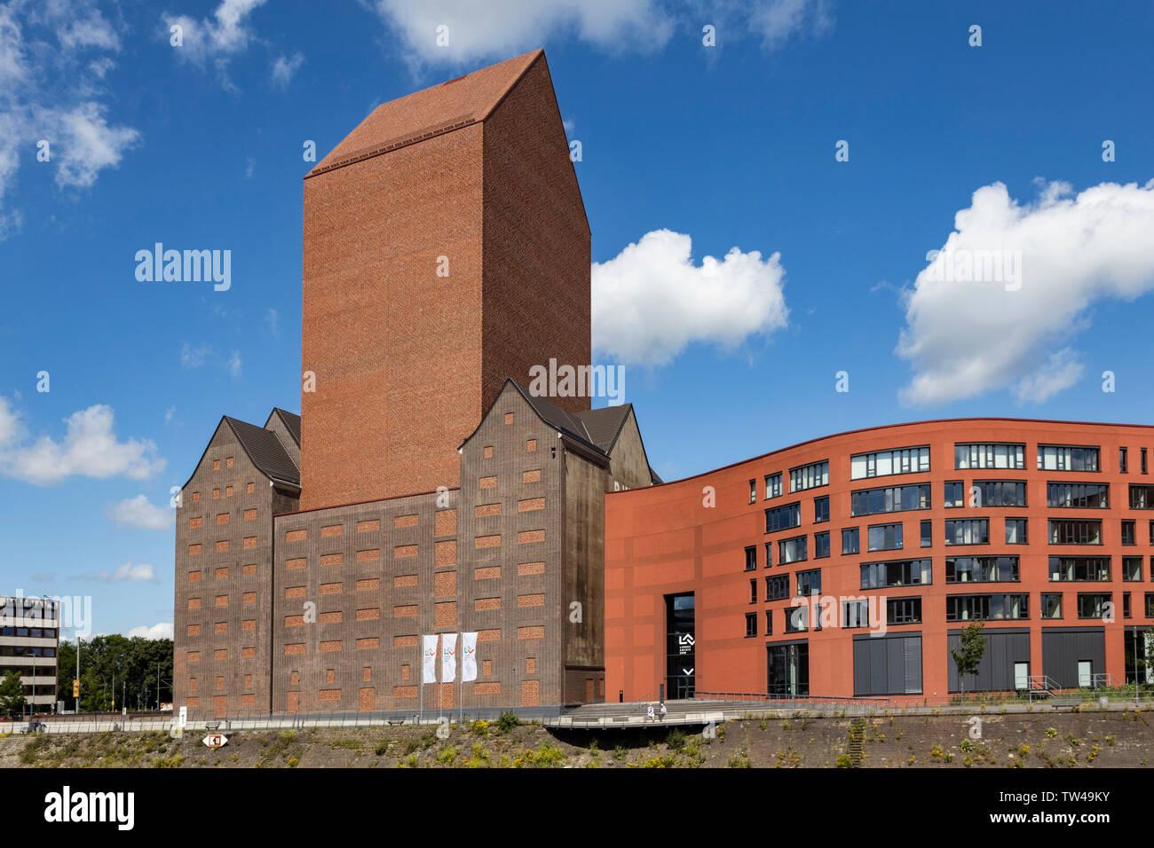 NRW State Archive, Landesarchiv Nordrhein-Westfalen, Innenhafen, Duisburg, Ruhr Area, North Rhine-Westphalia, Germany, Europe Stock Photo