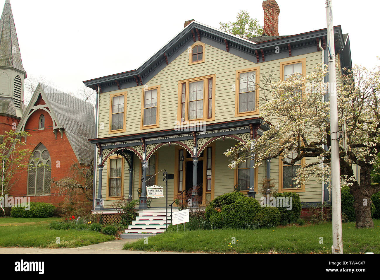 The Isaac Costen House Museum in Pocomoke, MD, USA - Stock Image