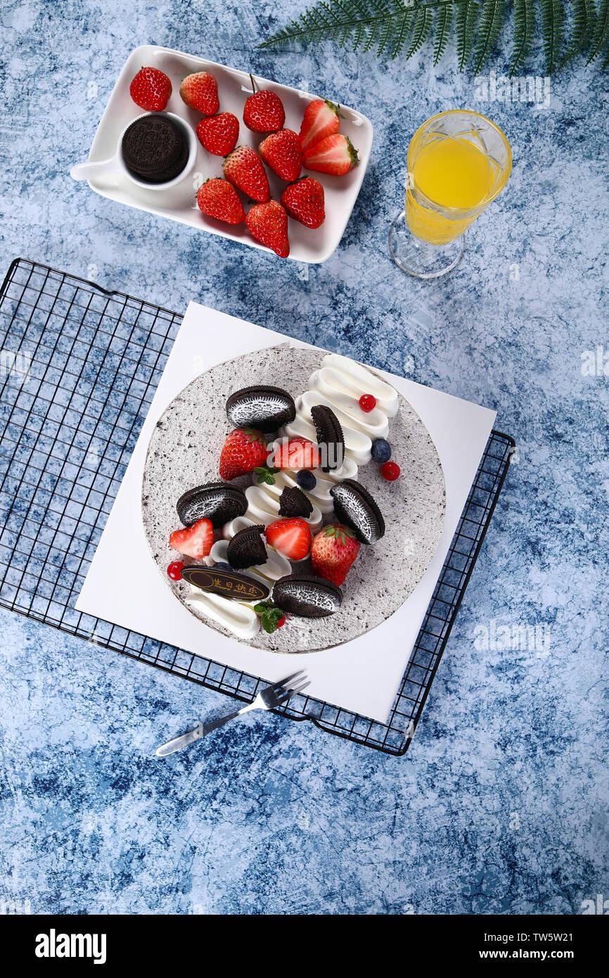 Brilliant Birthday Cake 8 Inch Sandwich Cream Fruit Mousse Baked Desserts Funny Birthday Cards Online Sheoxdamsfinfo