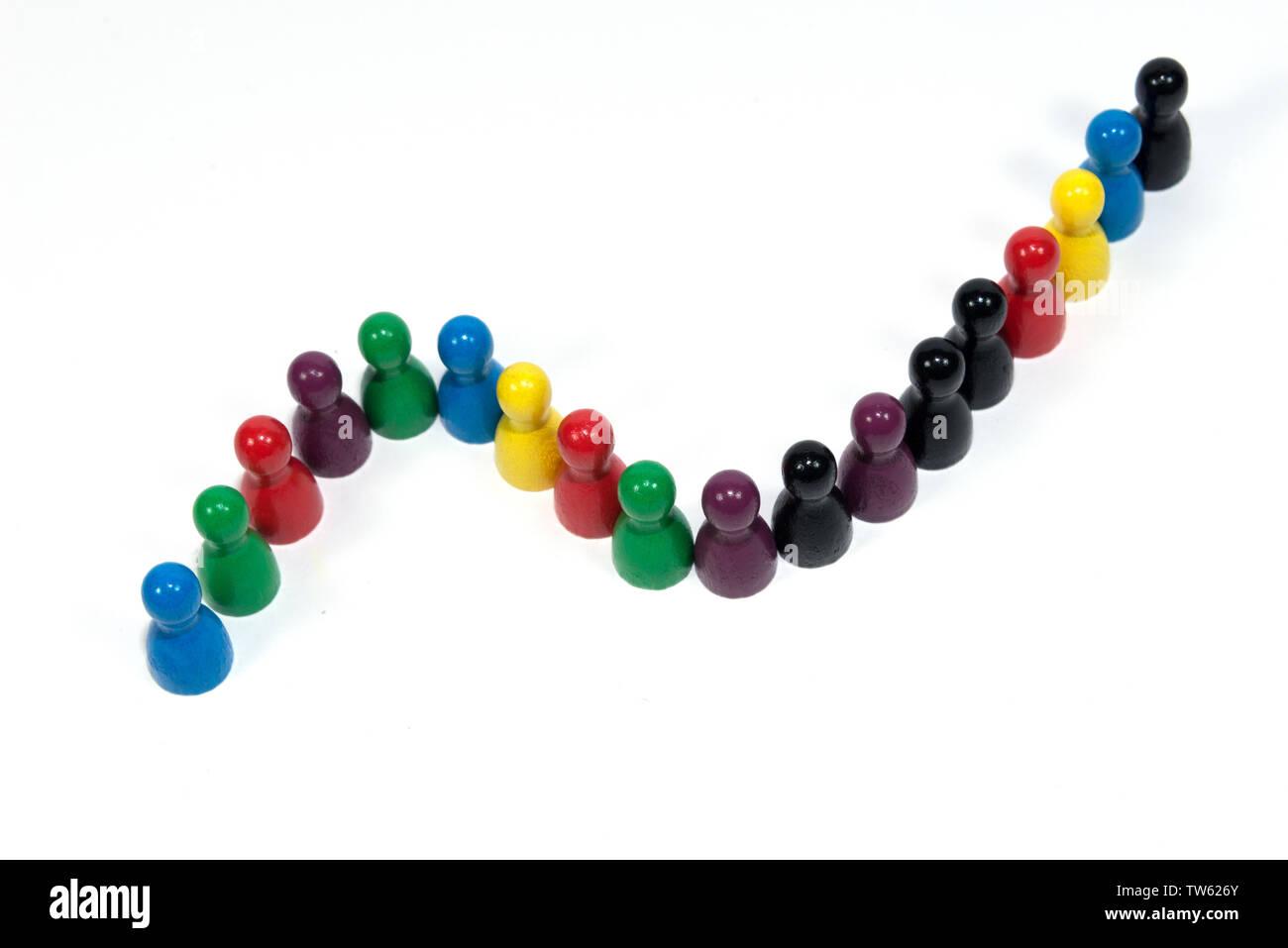 success curve - Stock Image