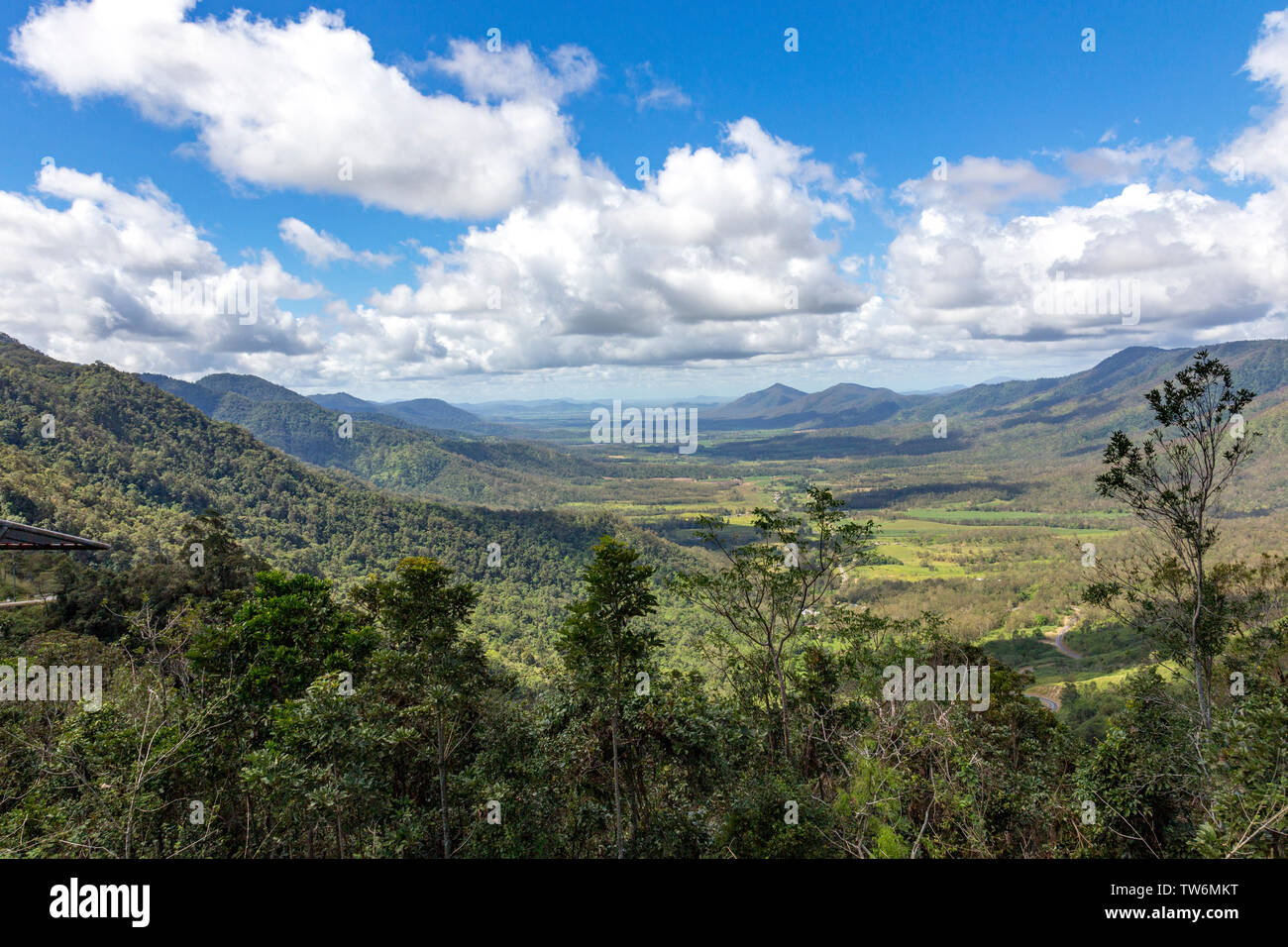 The Pioneer Valley is the gateway to Eungella, and encompasses many rural townships and sights to see along the way. Devastated by bushfires in 2019 Stock Photo