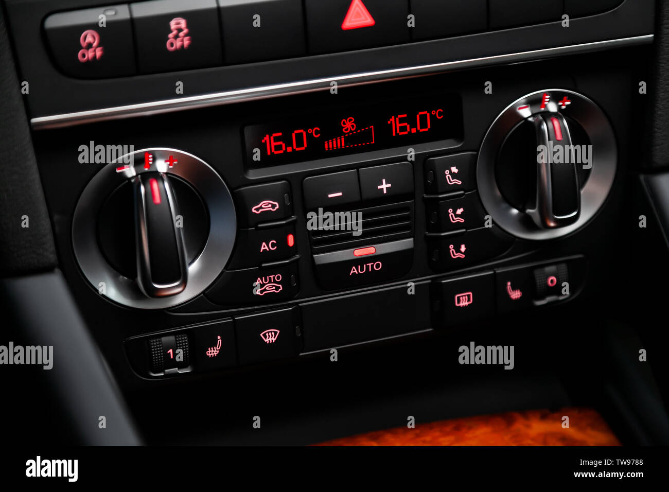 Car Air Conditioning Vent And Hand Stock Photos & Car Air