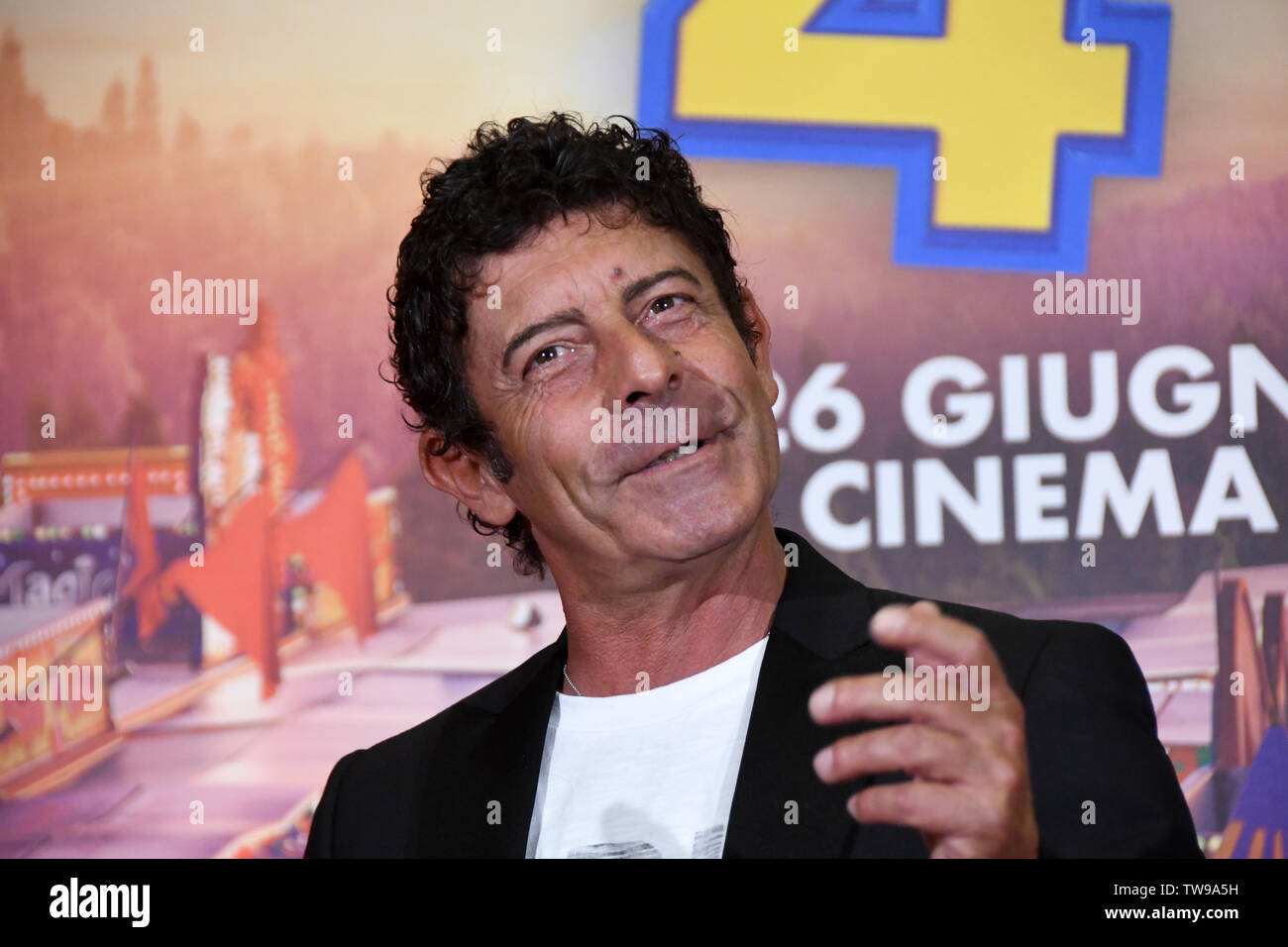 Rome 18 Giu 2019 hotel Parco dei Principi movie presentation TOY STORY 4 Luca Laurenti the Italian voice of  Forky Credit: Giuseppe Andidero - Stock Image