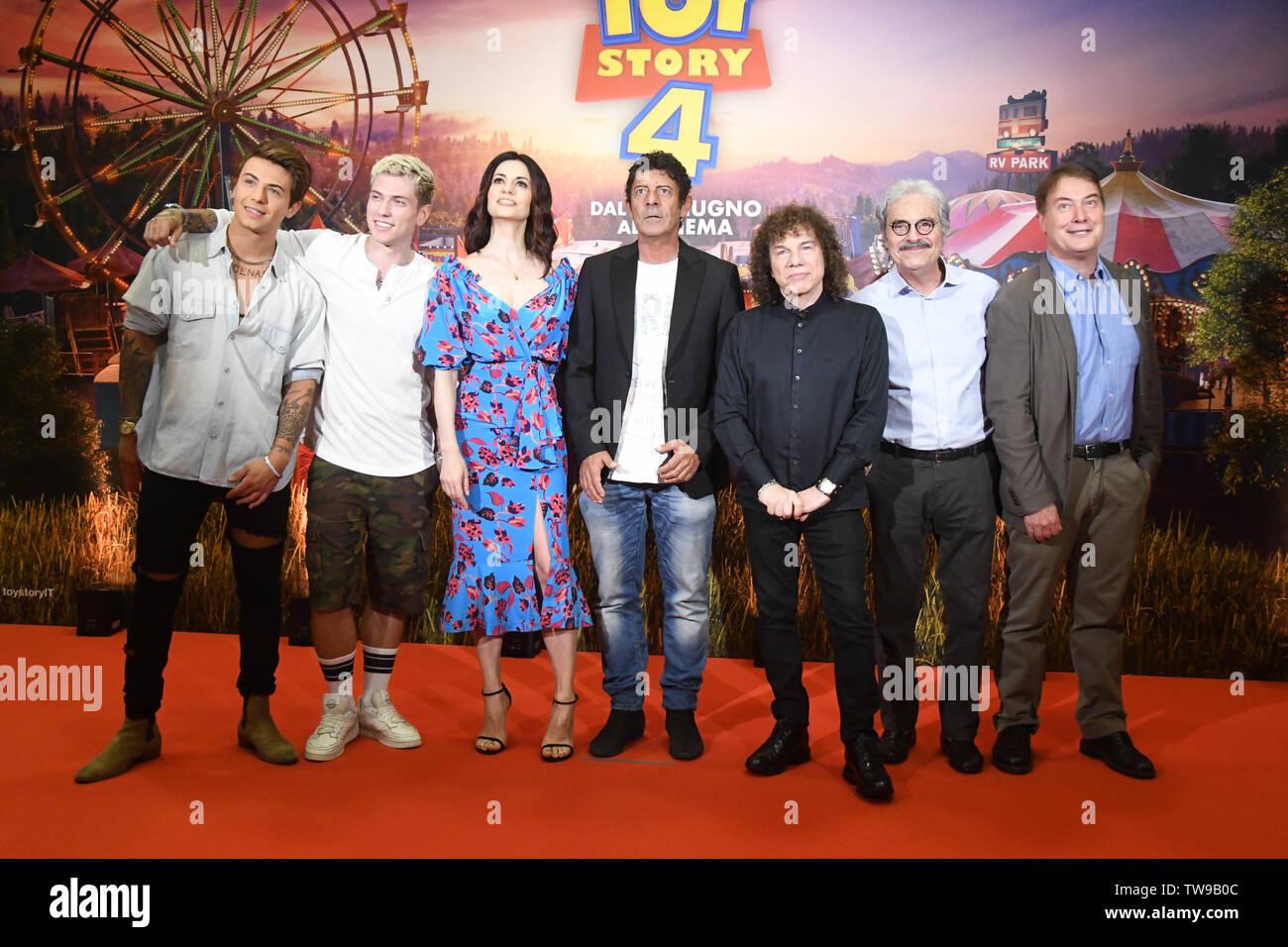 Rome 18 Giu 2019 hotel Parco dei Principi movie presentation TOY STORY 4 Cast Italian voices Credit: Giuseppe Andidero - Stock Image