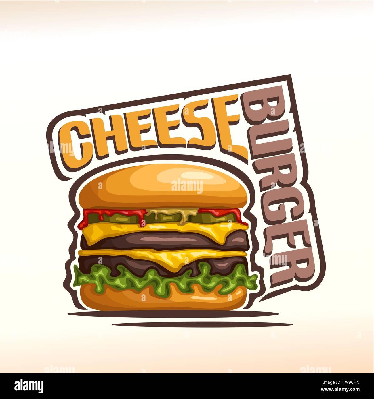 Vector logo for cheeseburger Stock Vector