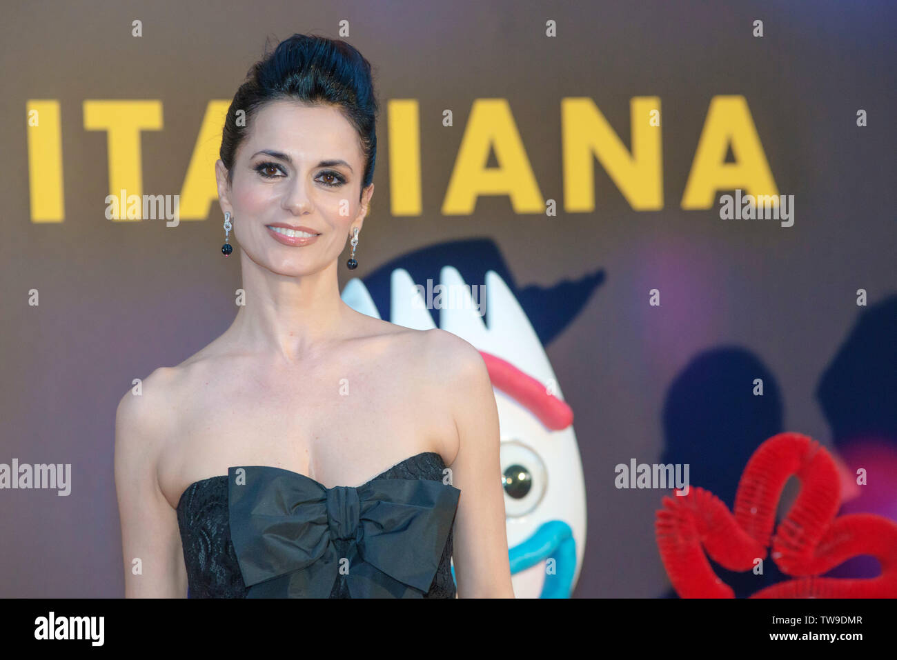 Italian tv celebrities attend the red carpet of Toy Story 4 at Studios in Rome - Stock Image