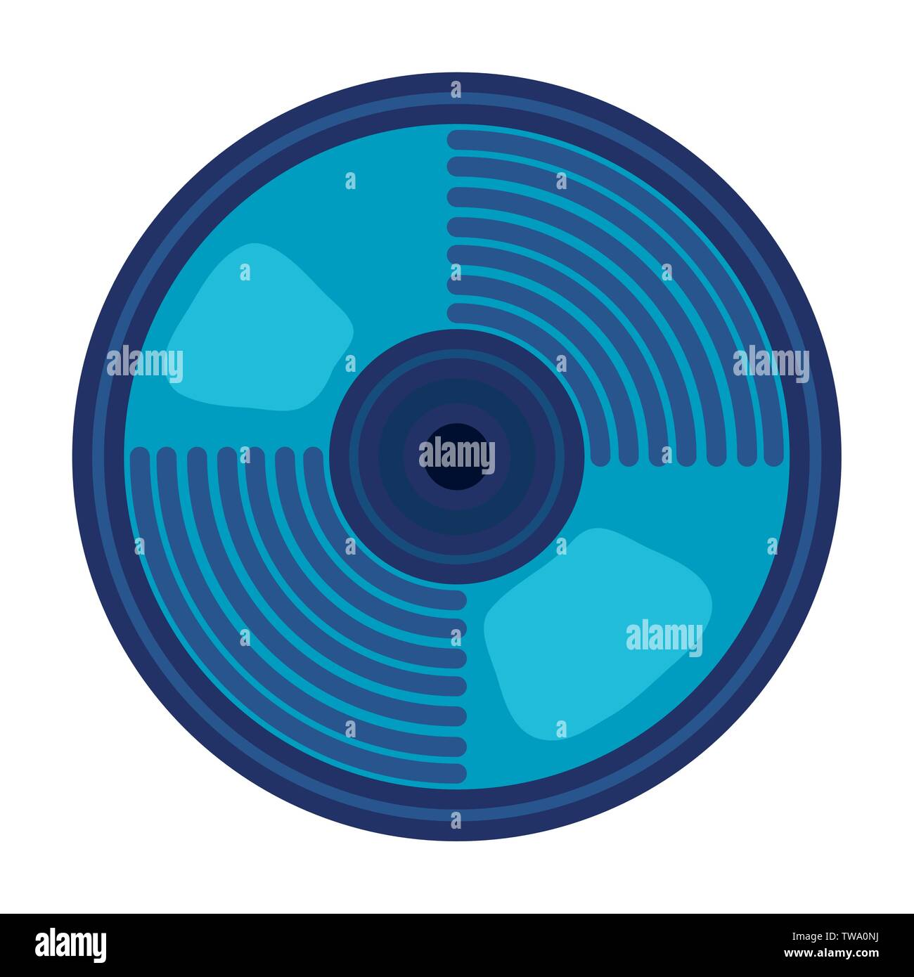 compact disk audio device icon - Stock Image