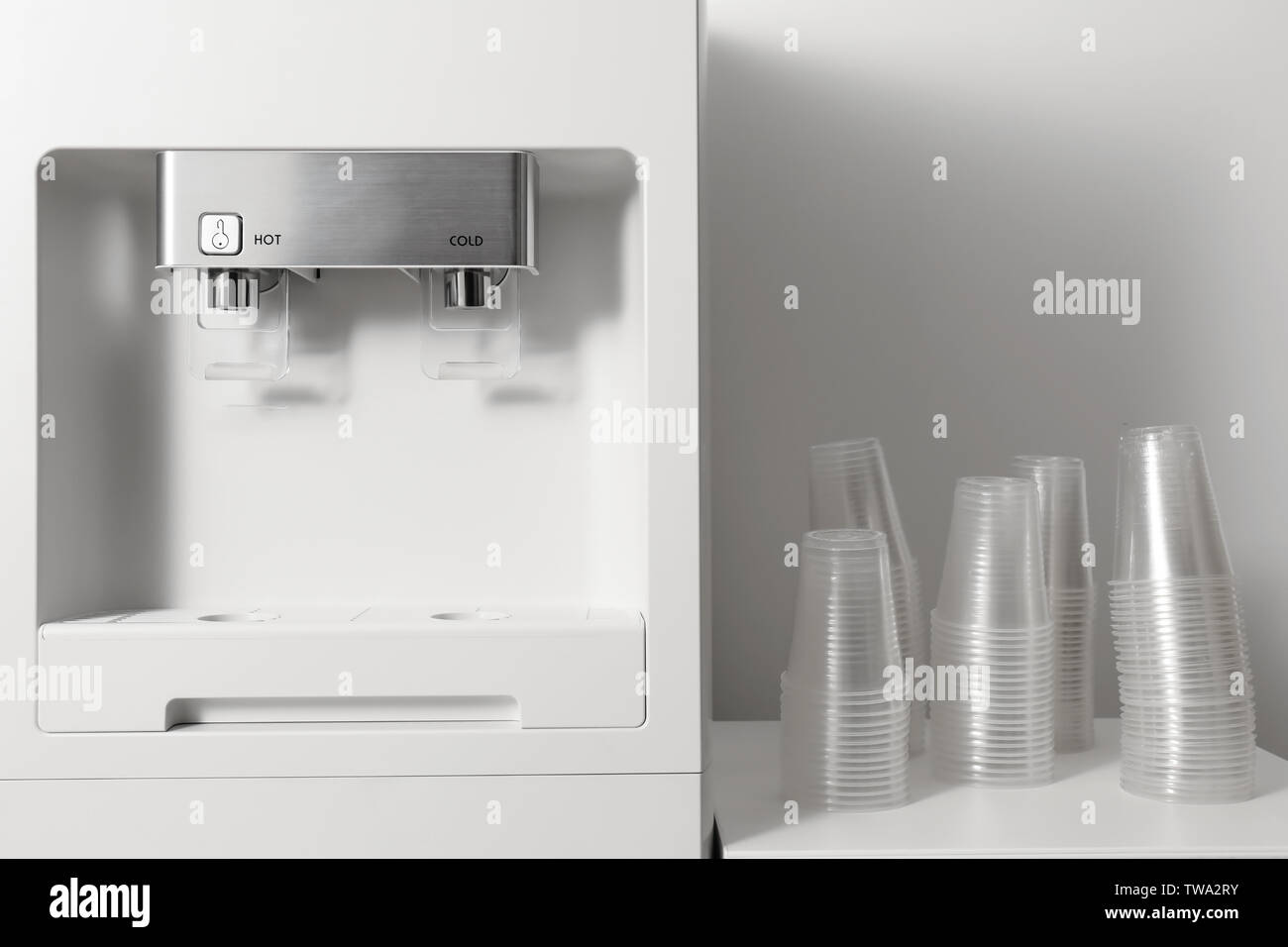 Office water cooler indoors - Stock Image
