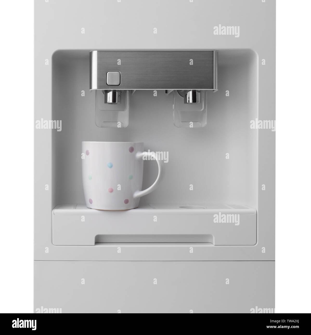 Office water cooler on light background - Stock Image