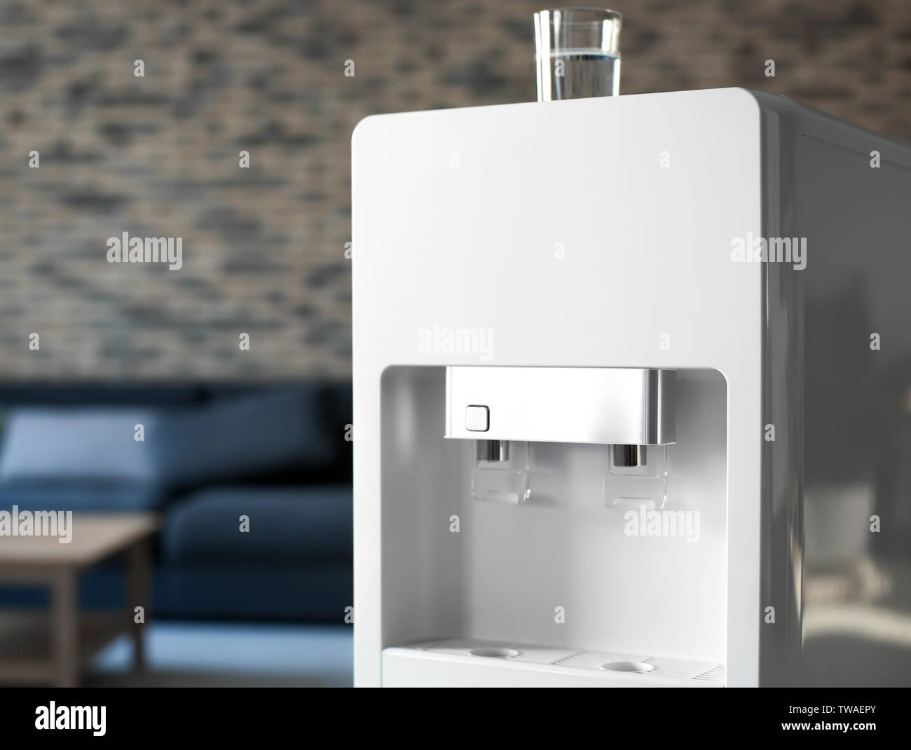 Modern water cooler in office - Stock Image
