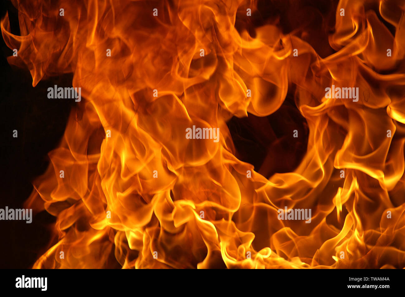 fire and flames - Stock Image