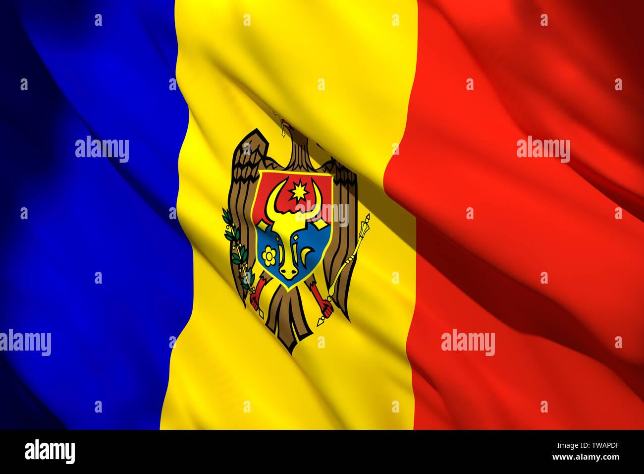REPUBLIC OF MOLDOVA MOLDOVAN MOLDAVIAN NATIONAL FLAG Sew on Patch