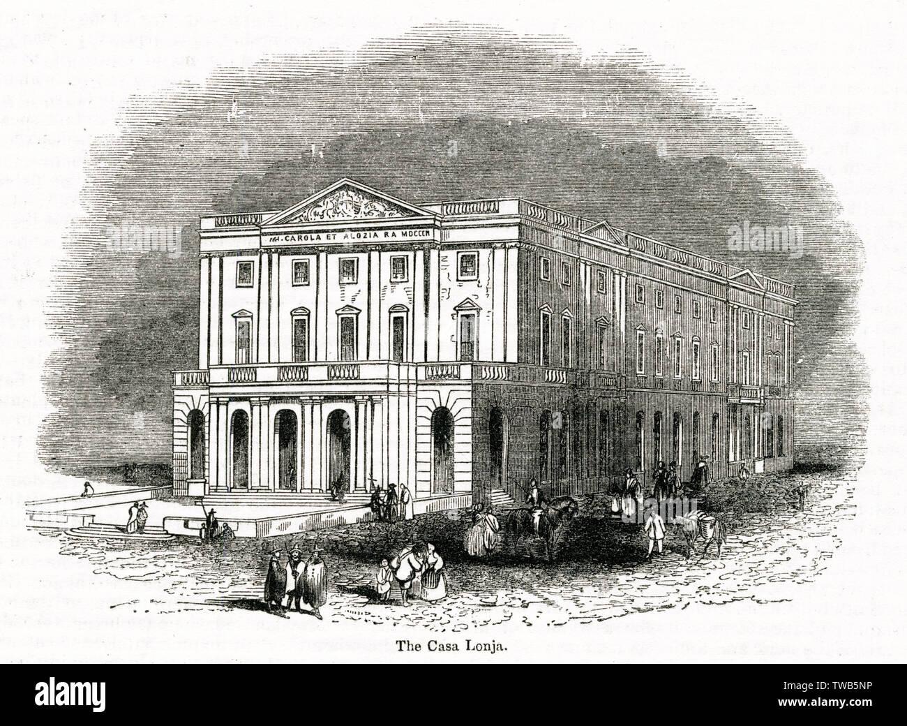 Casa Lonja (Llotja) de Mar, Stock Exchange, Barcelona, Spain.      Date: 1843 - Stock Image