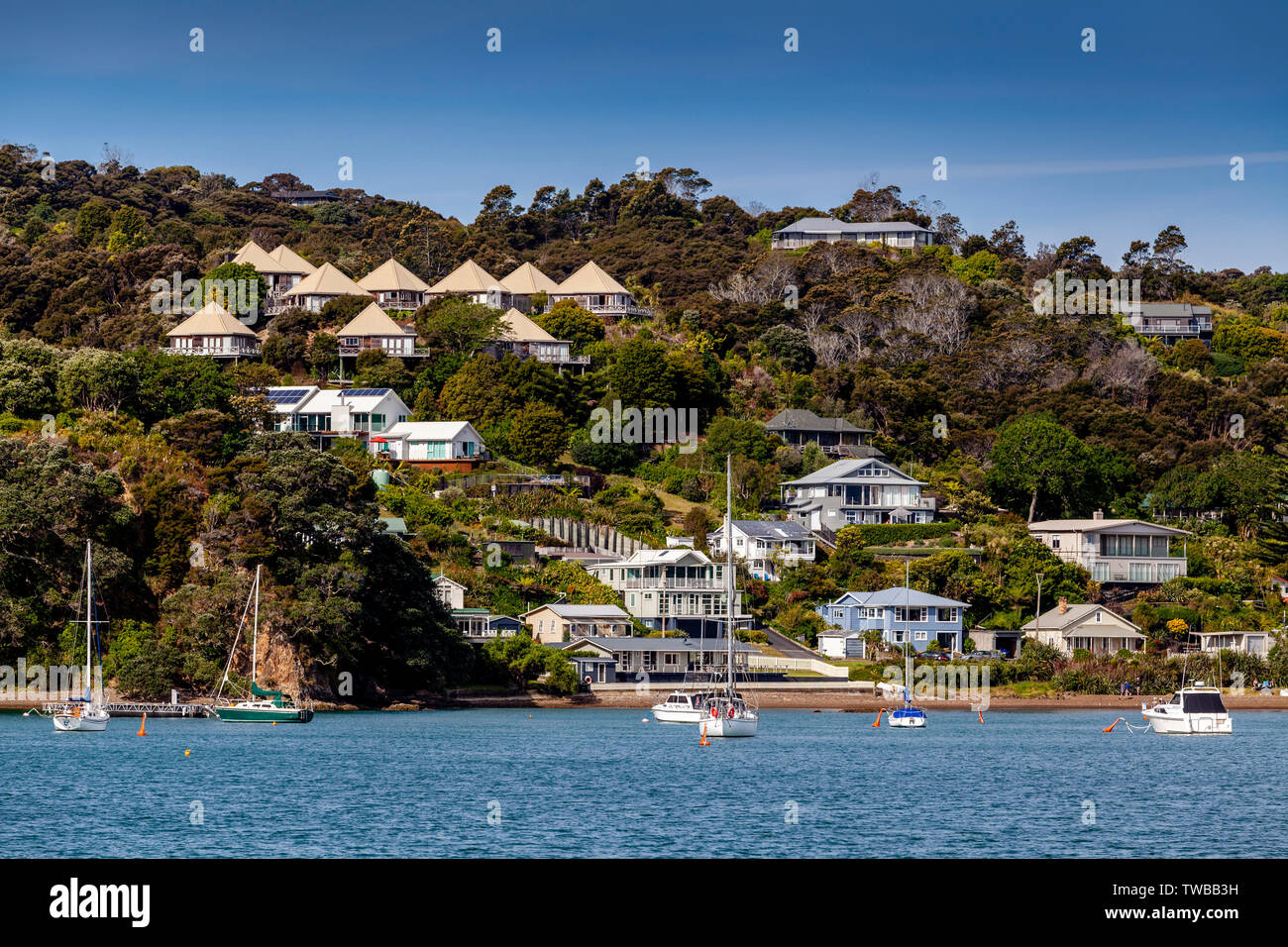 The Town Of Russell, The Bay Of Islands, North Island, New Zealand - Stock Image