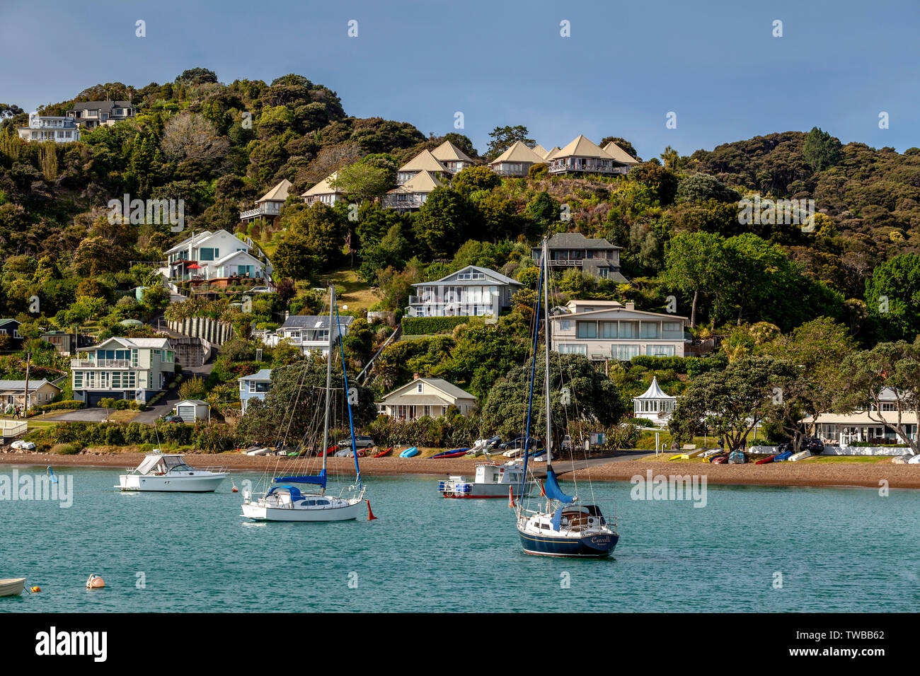 The Town Of Russell, The Bay Of Islands, North Island, New Zealand Stock Photo